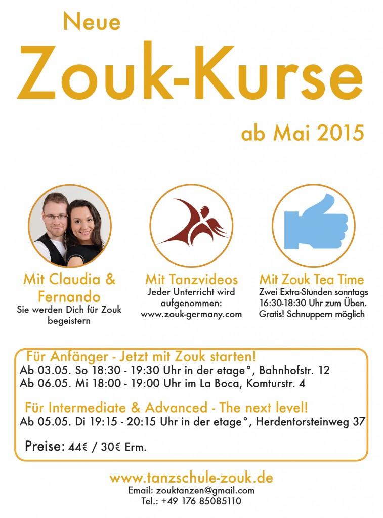 Zouk Bremen - Neue Kurse ab Mai 2015