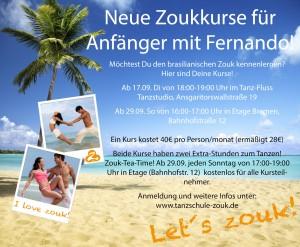 Neue Zoukkurse ab September in Bremen