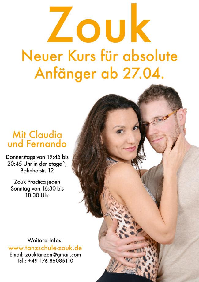 Zoukkurs Anfänger April 2017