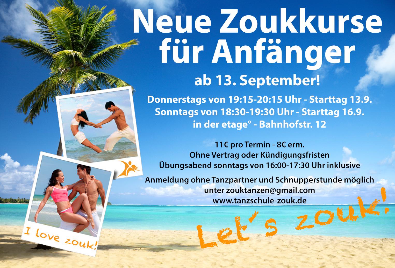 Zoukkurse für Anfänger ab September 2018 in Bremen