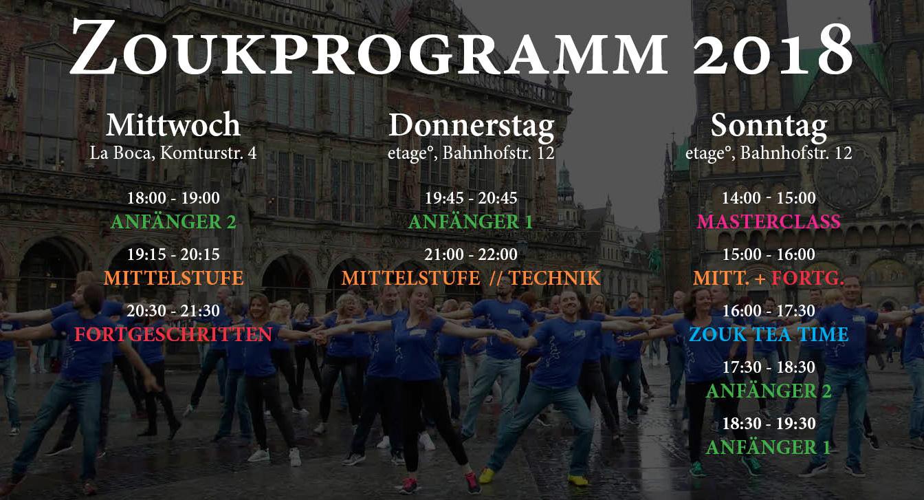 Zoukprogramm in Bremen 2018
