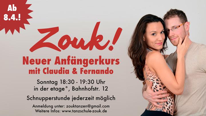 Neuer Zouk-Anfängerkurs ab April (8.4.)
