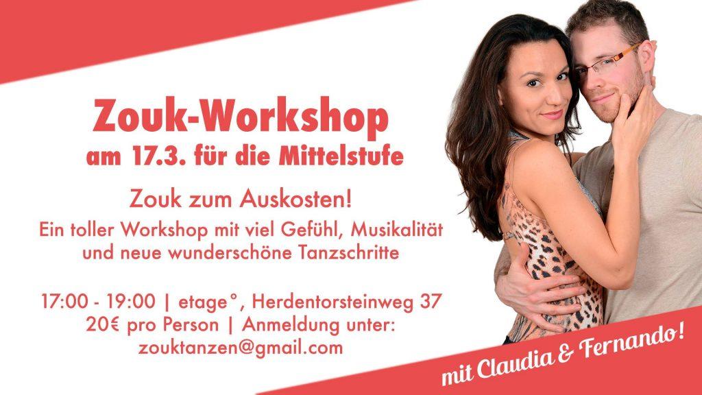 Zouk-Workshop in Bremen mit Claudia und Fernando